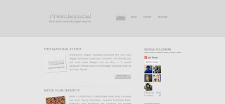 Freeclassical F1 Blogger Template is a Responcive Newbie Friendly Blogger Template