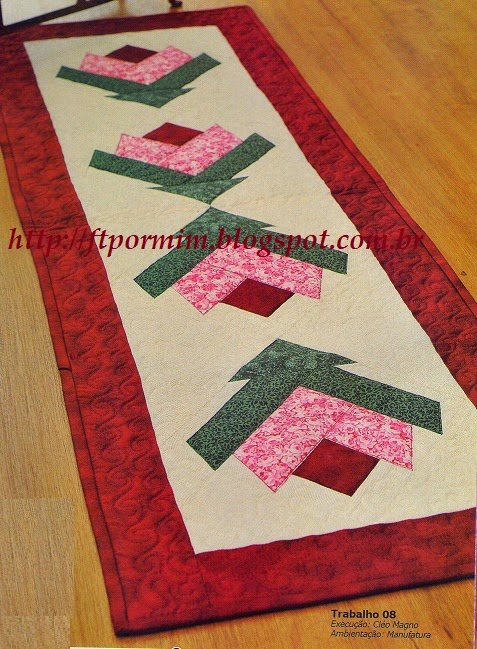 centro de mesa em patchwork