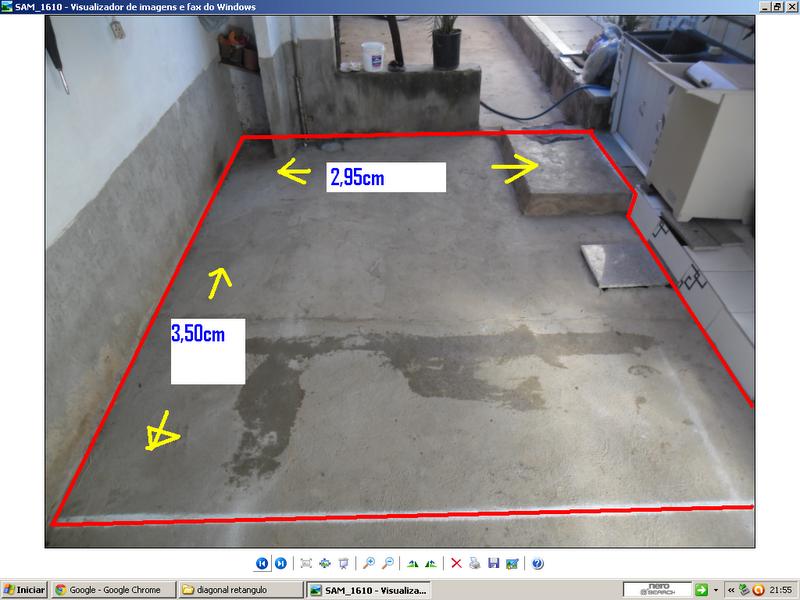 Cer mica em diagonal p c modo retangular como assentar - Como nivelar un piso para colocar piso flotante ...