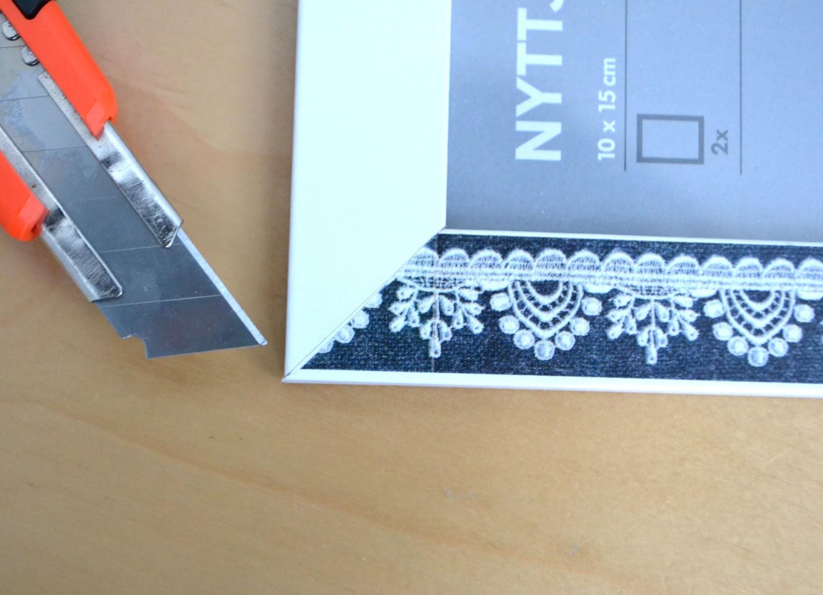 washi tape marco de ikea con washi. Black Bedroom Furniture Sets. Home Design Ideas