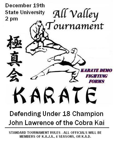 Karate Kid Tournamet Flyer