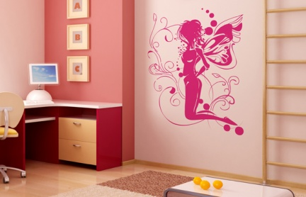 Ideas para decorar paredes for Vinilos juveniles nina