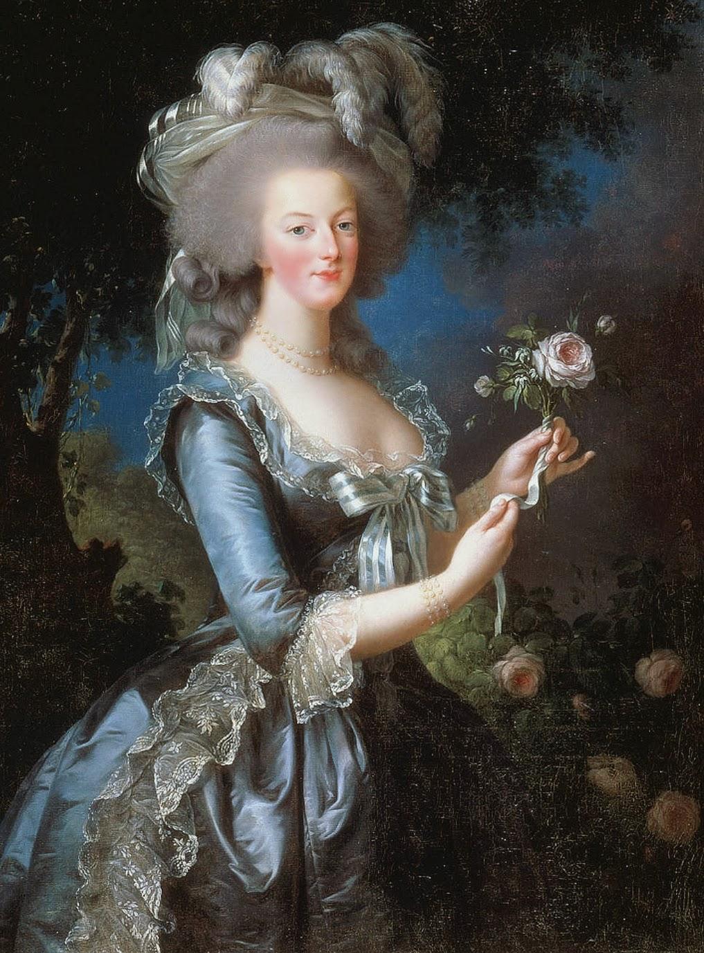 Retrato de Maria Antonieta no Petit Trianon
