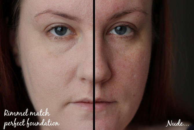 Rimmel Match Perfection foundation on the skin