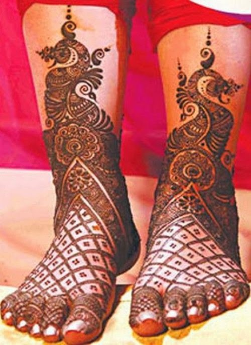 Bridal Mehndi Feet Wallpapers : Dulhan mehndi designs bridal