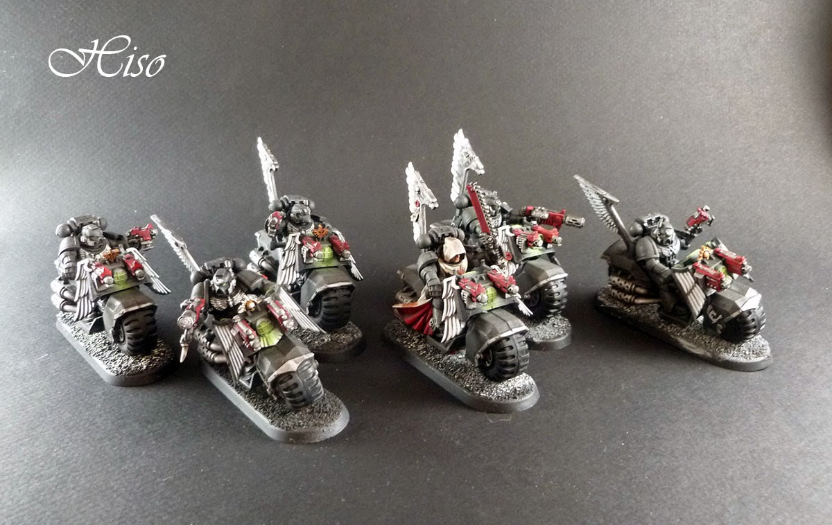 Dark Angels Ravenwing - motos