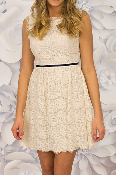 Ivory crochet & lace dress
