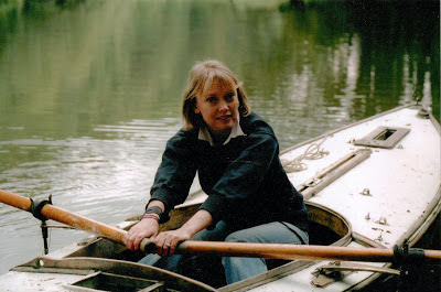 Sophie Neville Neville rowing in the Cotswolds