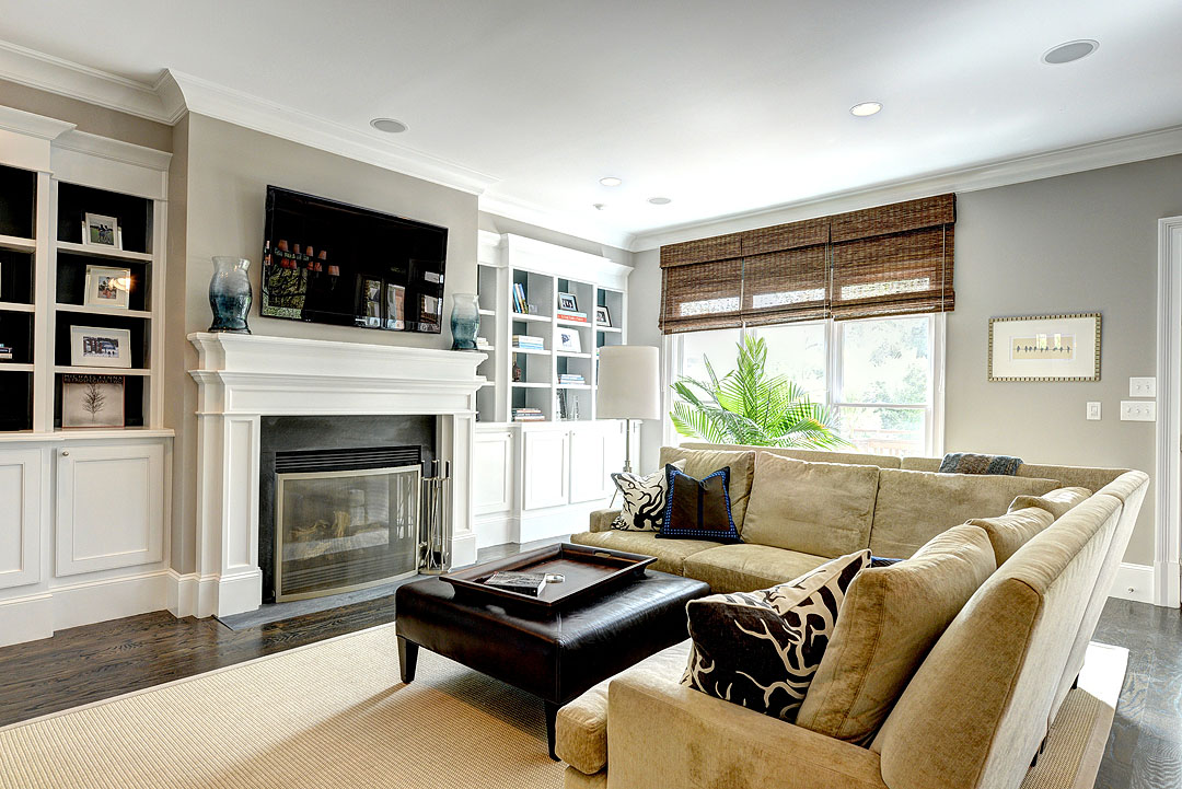 Atlanta real estate and home improvement news add custom built in shelves to add interest for Custom built ins for living room