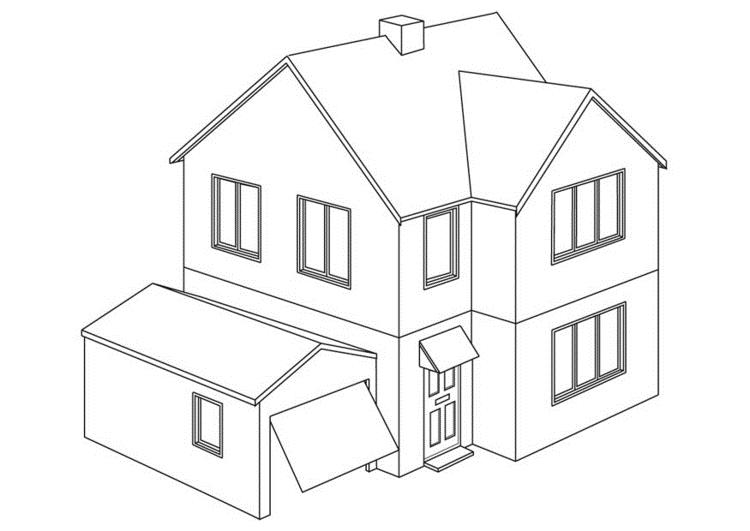 Desenhos de casas para imprimir e colorir coisas pra ver - Para pintar casas ...