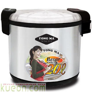Harga Rice Cooker Yongma Terbaru Agustus 2012