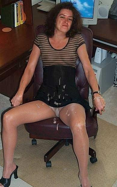 load of cum on dress
