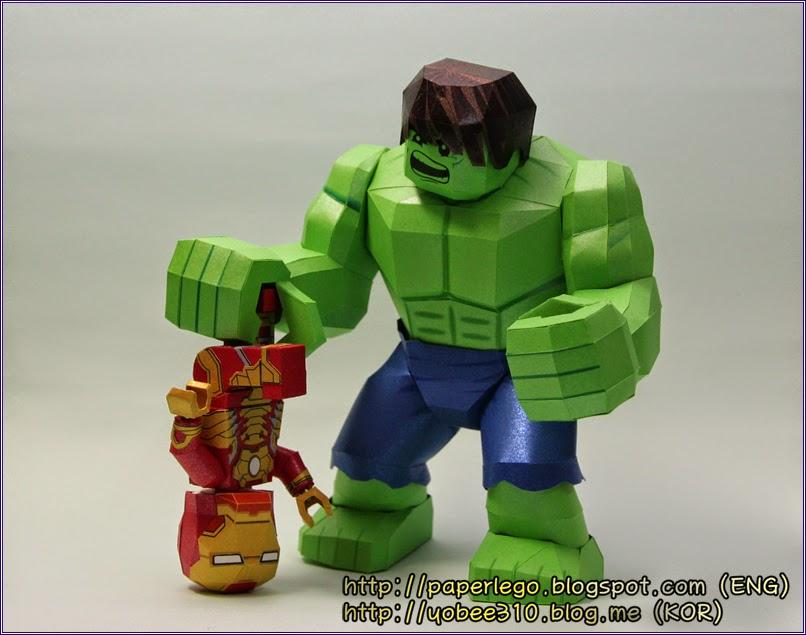 Lego Hulk Paper Craft (Yobee's Paper Toy)