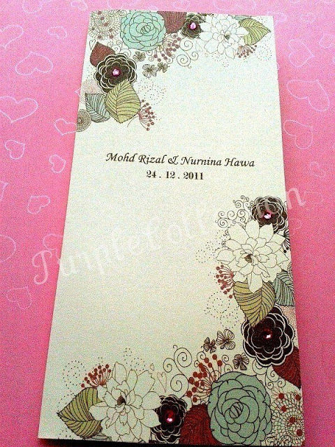 Handmade Malay Wedding Invitation Card, kad kahwin, floral, flower, bunga, rhinestone, printing, marriage, indian, western, style, unique, special, modern, kuala lumpur, malaysia, online