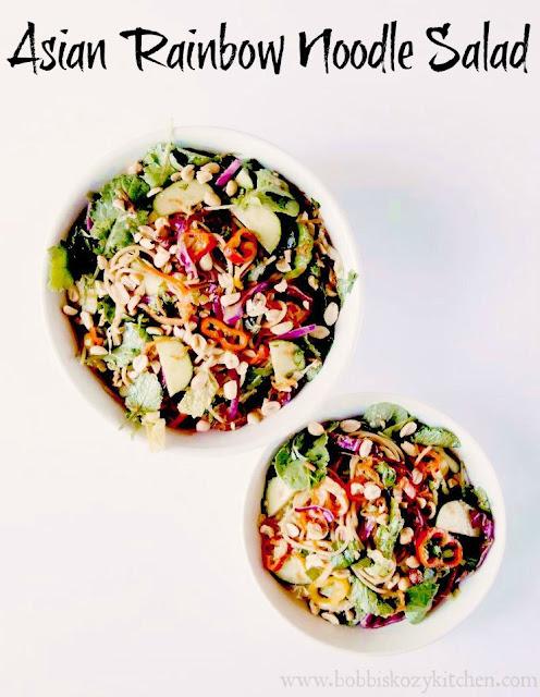 Asian Rainbow Noodle Salad from www.bobbiskozykitchen