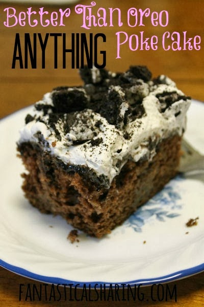 Better Than Anything Oreo Poke Cake | Chocolate cake with hot fudge, Cool Whip, and tons of Oreo cookies #dessert