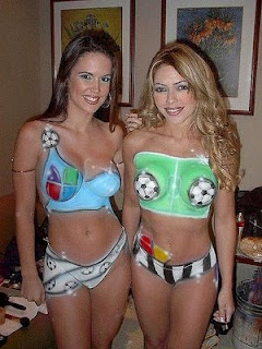 Body paint ball Two Women Picture