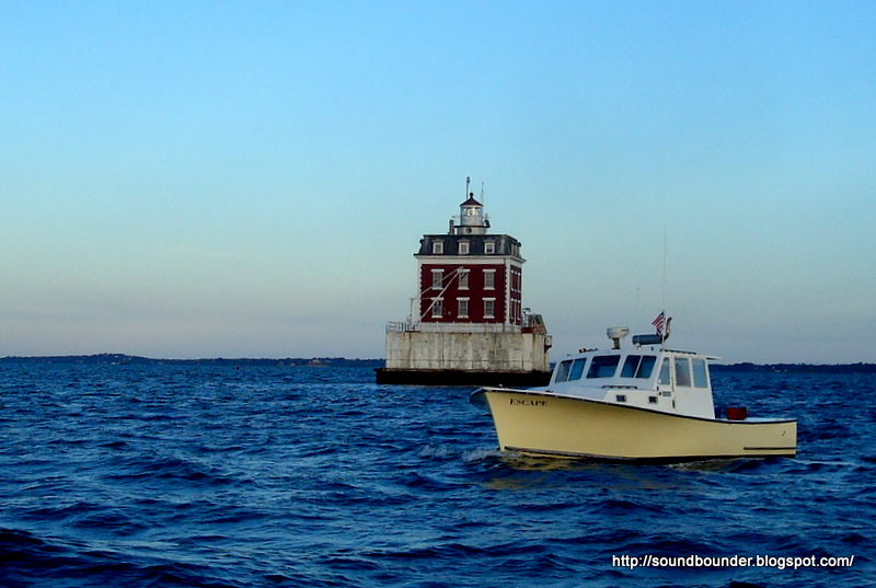 Lobster boats are common here, and it was obvious she was hauling pots, ...