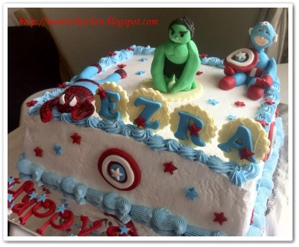 manise kitchen Avengers Spiderman Birthday Cake for Ezra