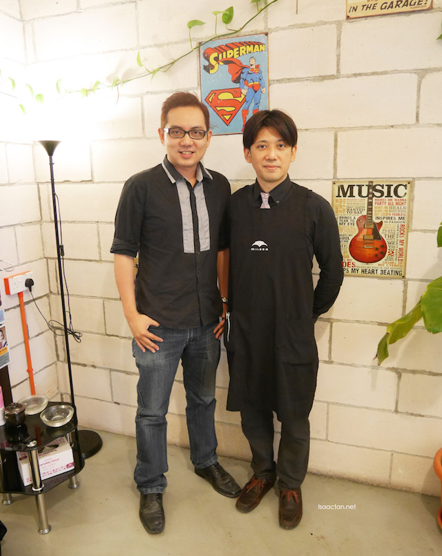 With the owner, Mr Daisuke himself