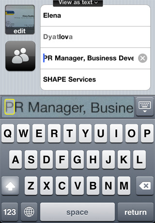 Apple iphone business card reader version 201 at 099 instant business card recognition right on the iphone import contact information from a business card directly to your iphone address book linkedin reheart Choice Image