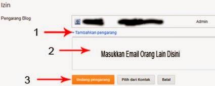 Mengundang Orang Menjadi Penulis Blog dan Admin