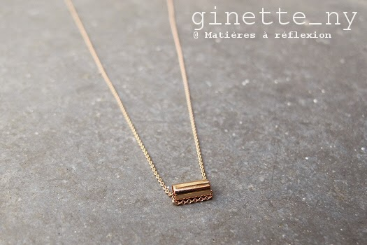 Nouvelle collection Ginette_NY collier mini-straw