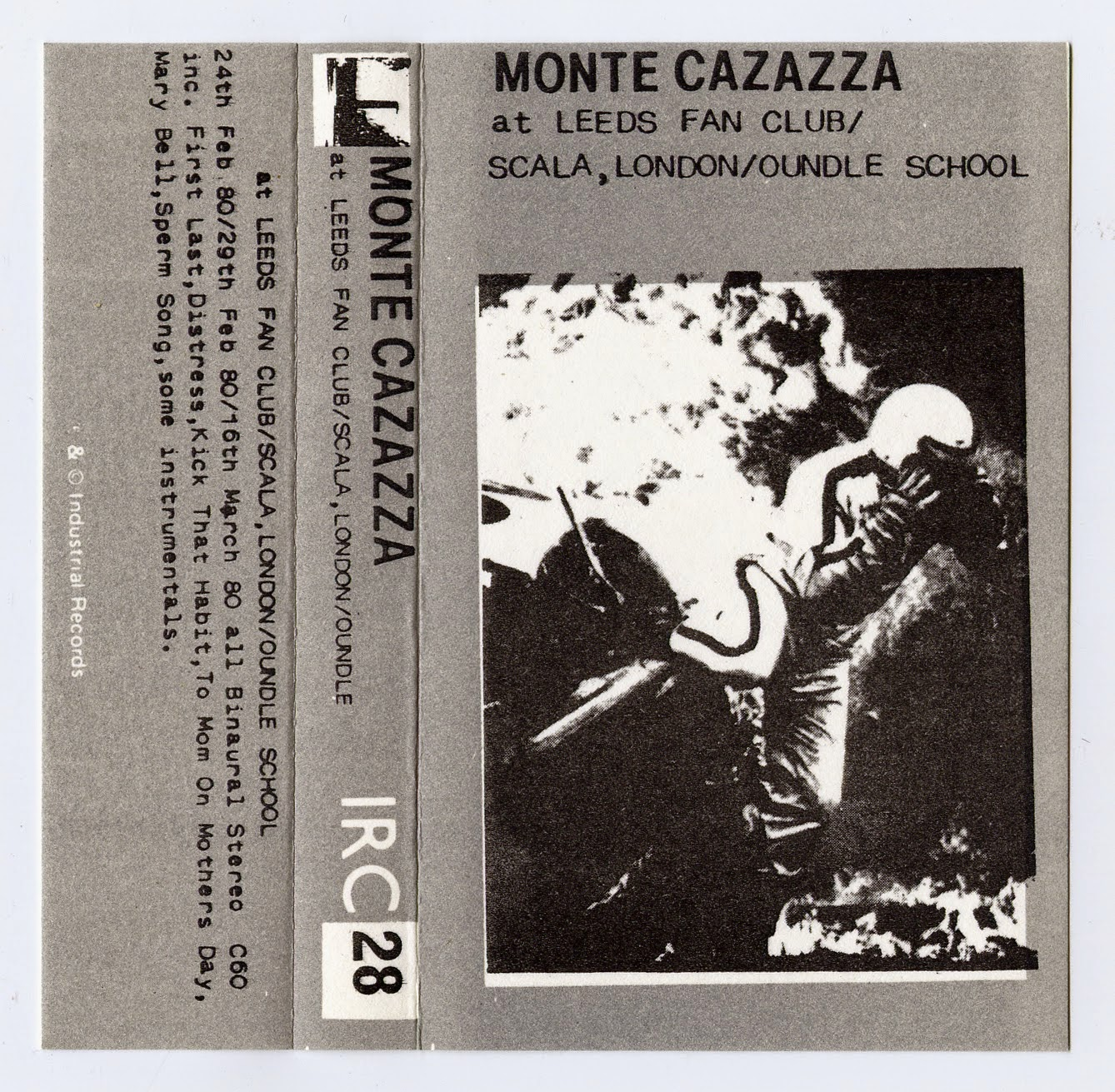 Monte Cazazza At Leeds Fan Club Scala London Oundle School