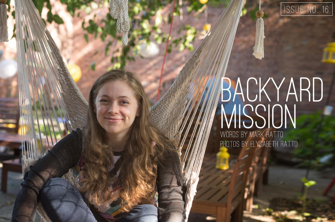 backyard mission, Mark Ratto, Katy McFadden, Issue No. 16, Volume II, re.write magazine, testimony