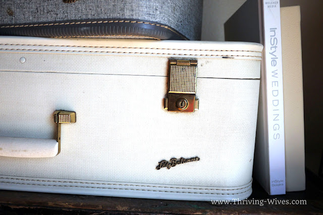 vintage home decor suitcase