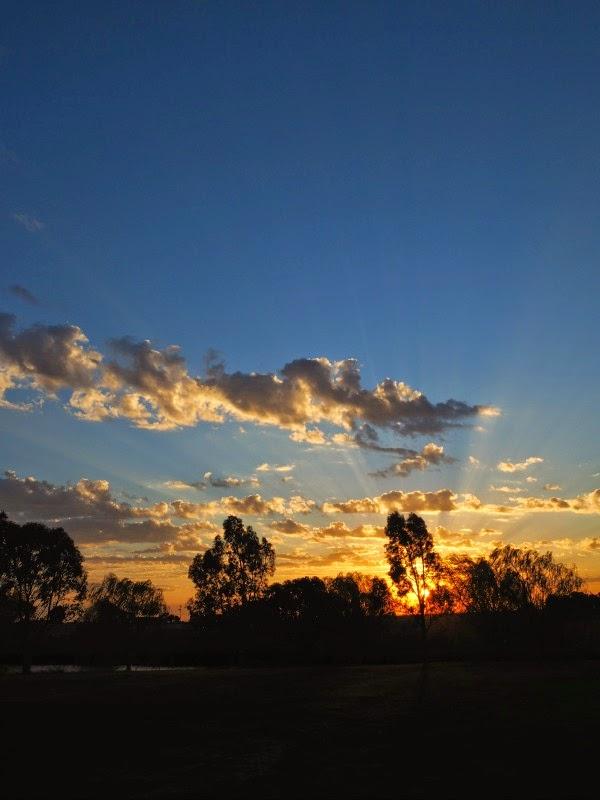 sunset melbourne west dusk