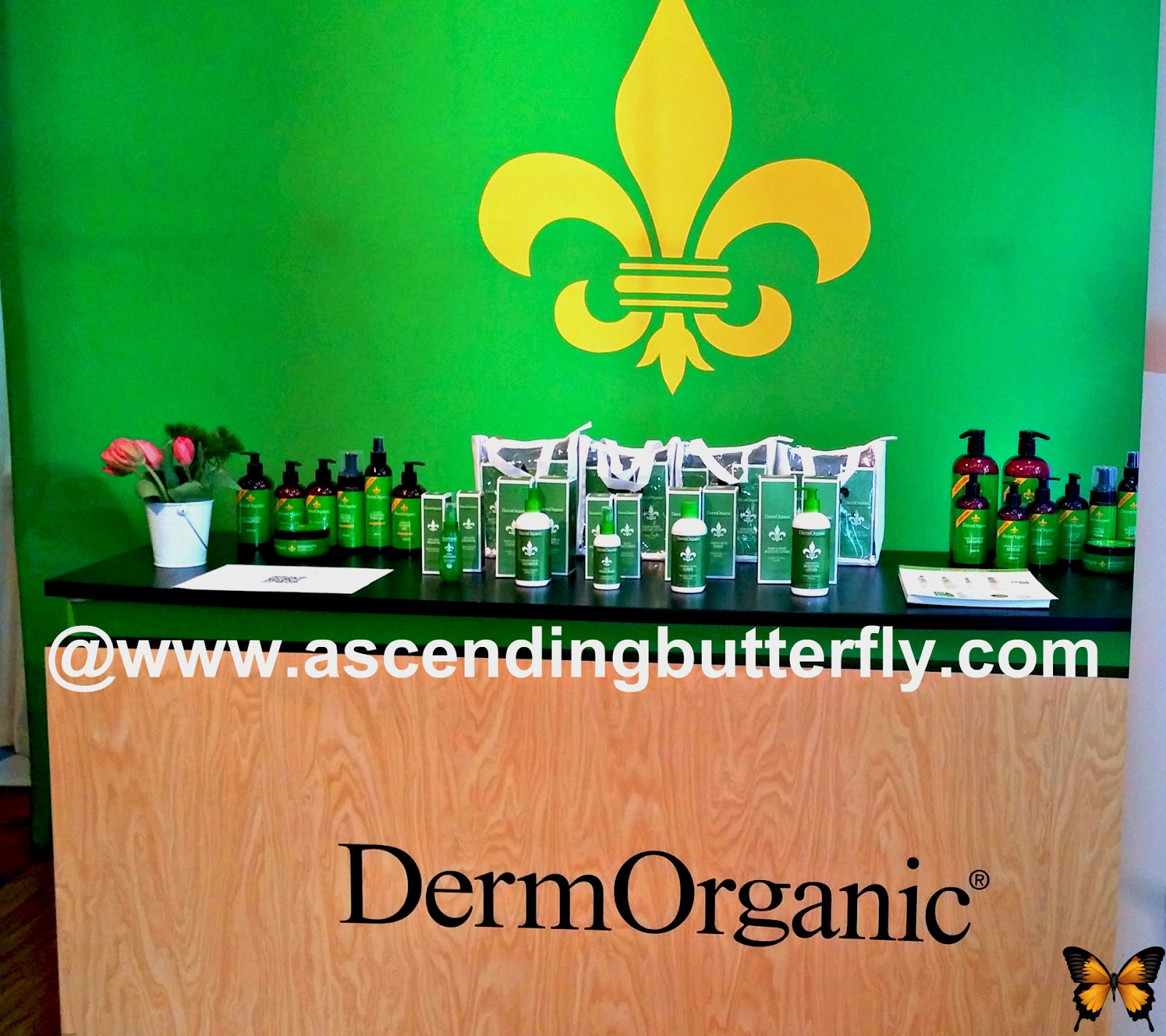 DermOrganic Display at BeautyPress Spotlight Day February 2014