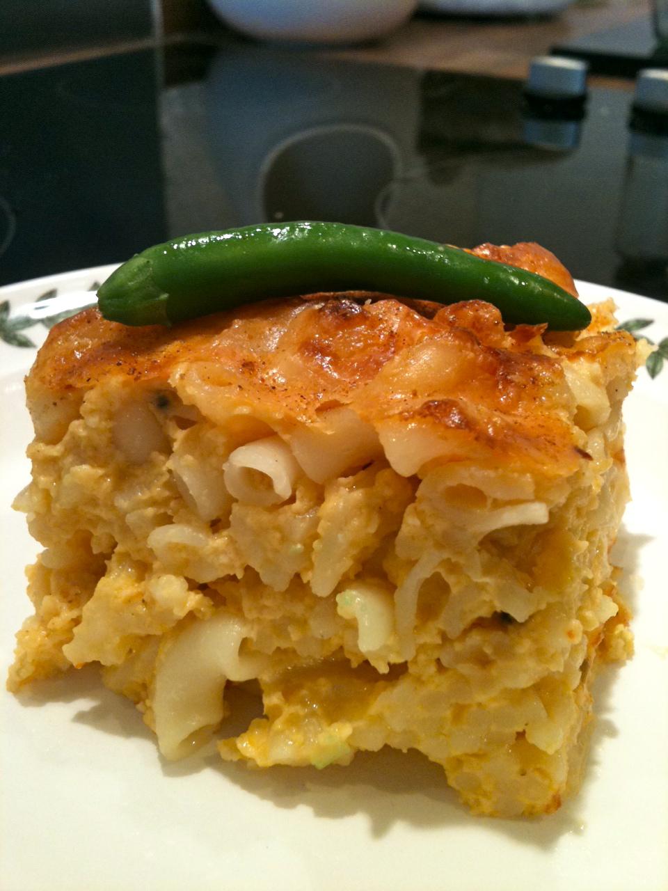 Macaroni pie, caribbean style.