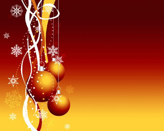 Special Holiday christmas red balls Wallpaper