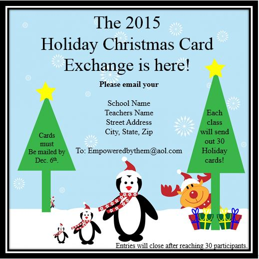 Empowered By THEM: 2015 Christmas Card Exchange!