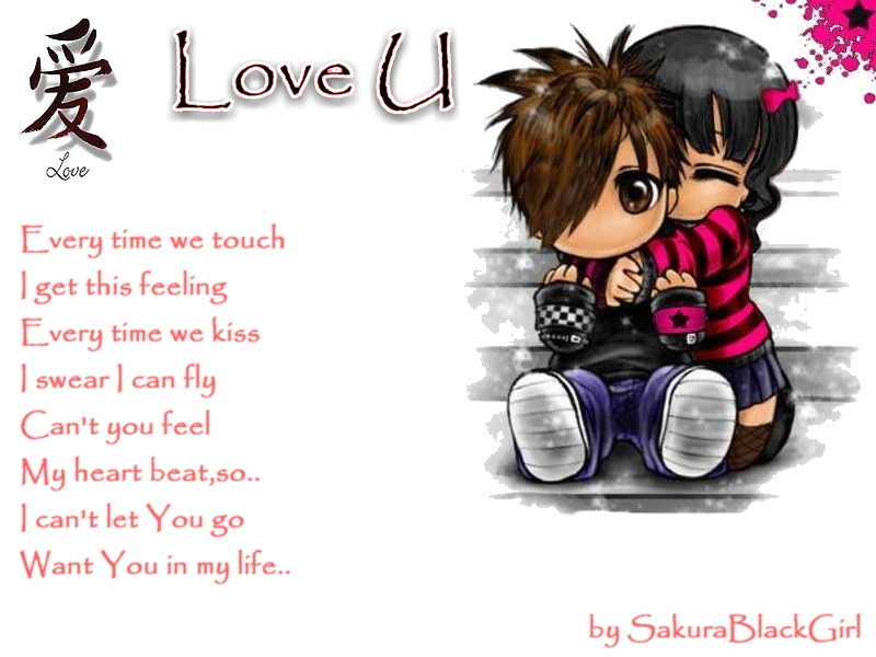 Wallpaper Of Emo Love : Anime Love Wallpapers