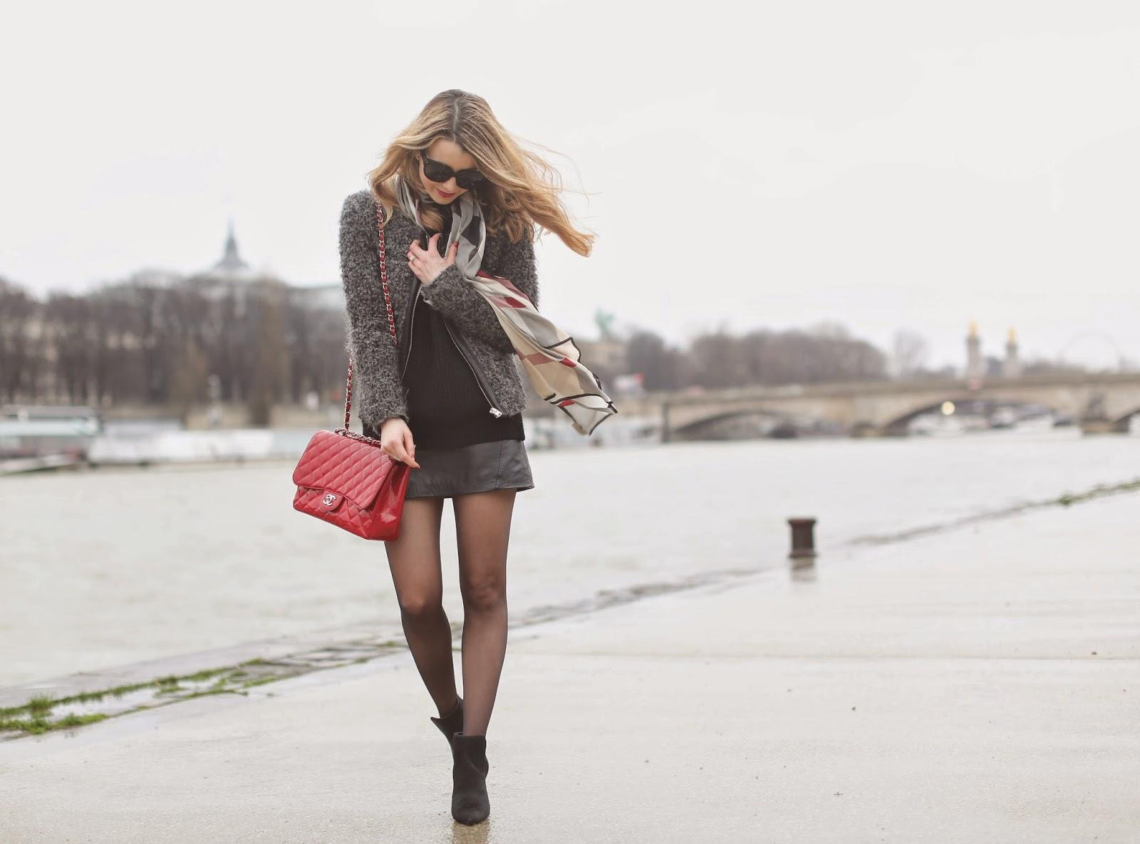 chanel, iro, topshop, paris, streetstyle, rainy days, fashion blogger