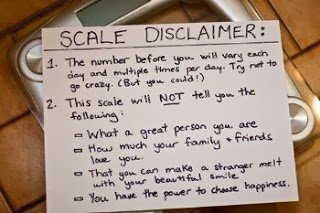 slave to the scale, overcoming the scale, scale and weight issues