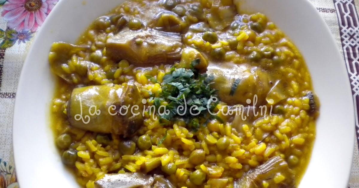 La cocina de camilni arroz con alcachofas y guisantes - Arroz con alcachofas y jamon ...