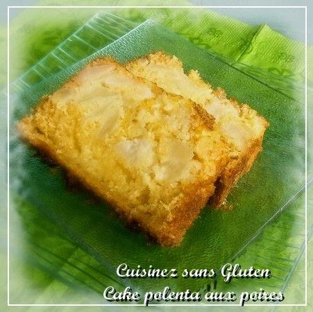 cake polenta poire sans gluten