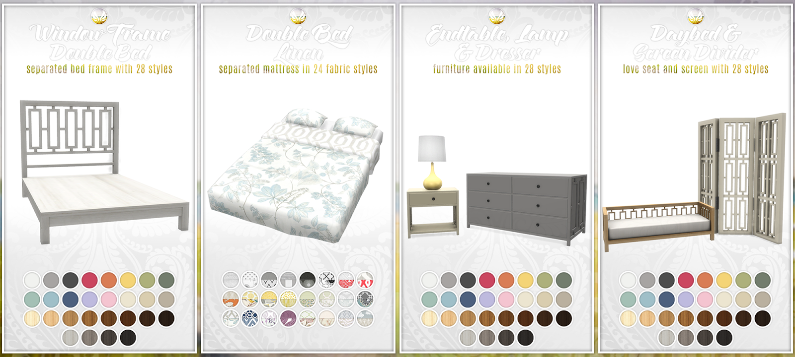 my sims 4 blog: updated - bayside furniture set - 20 items and new