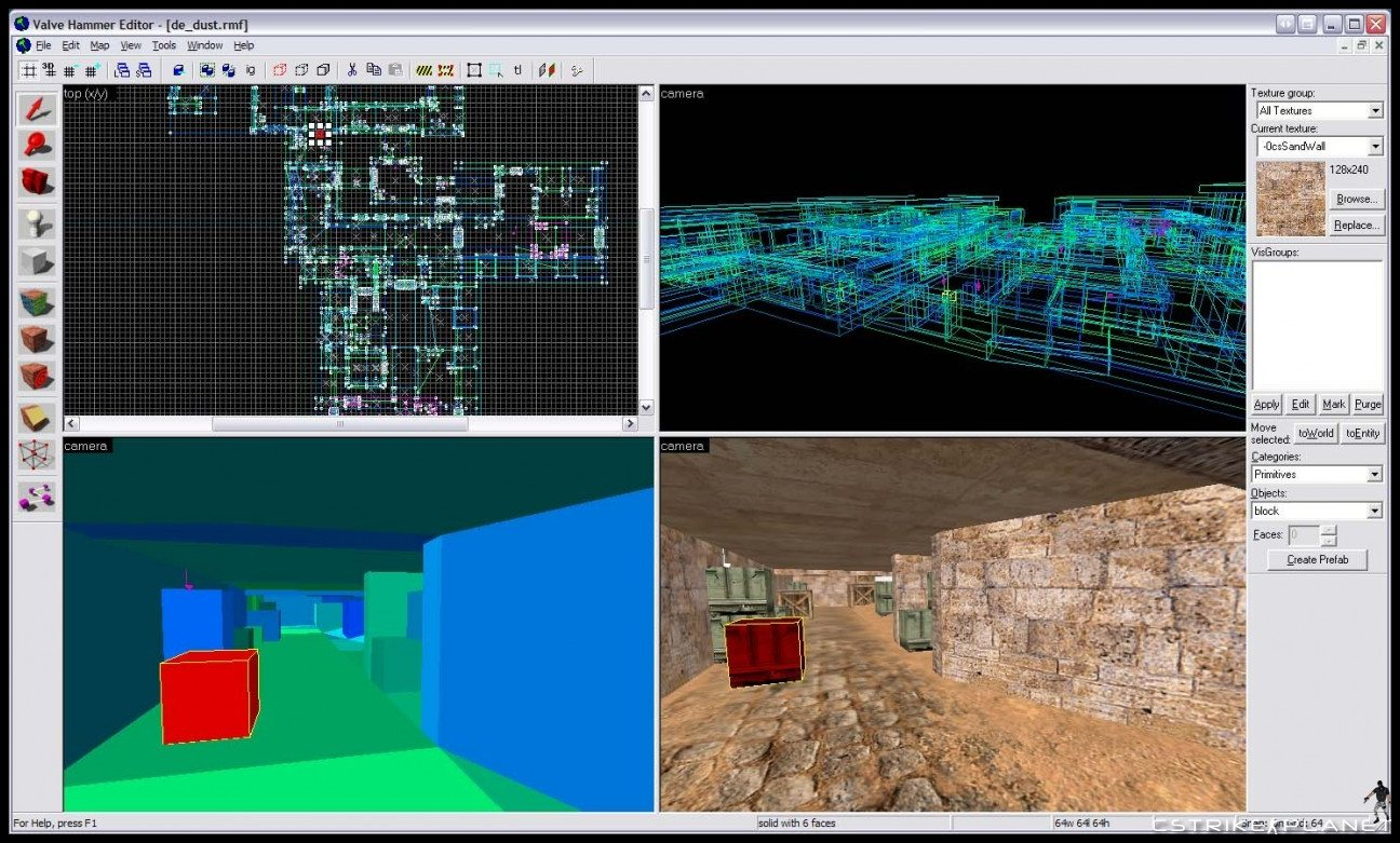 The valve hammer editor, more informally known as hammer, is the resource used to make maps in source engine games