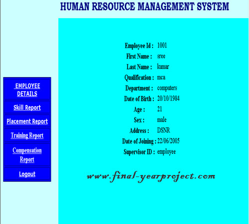 human resource information system essay