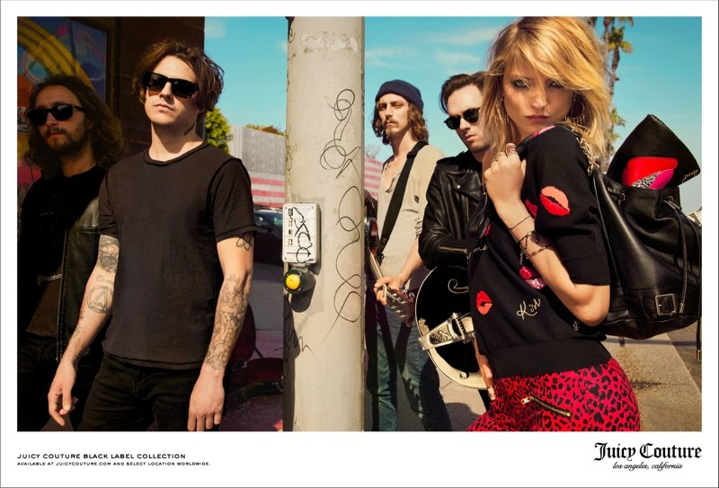 Martha Hunt for Juicy Couture's Fall 2014 Campaign