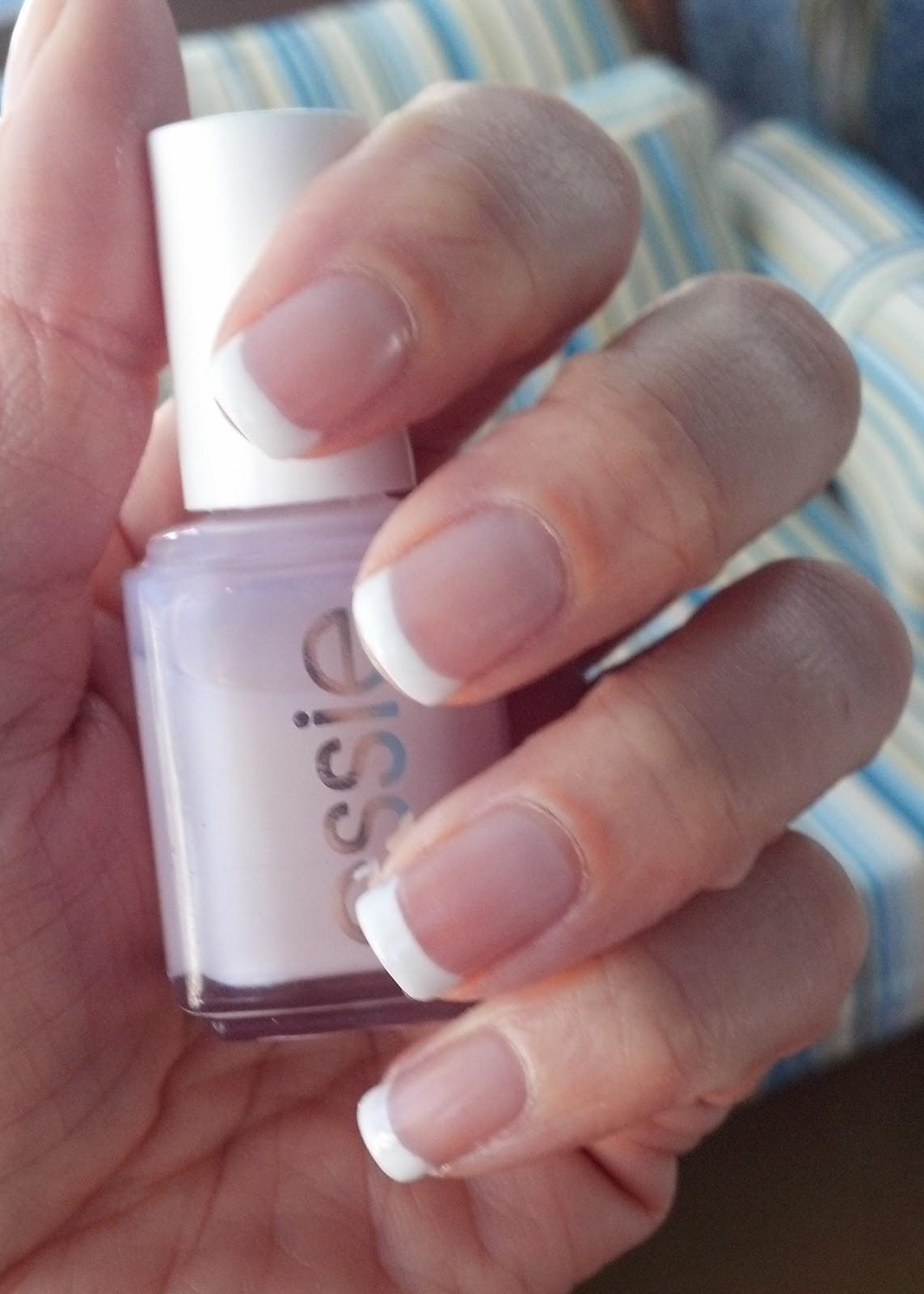 PraiseTheGlaze: French Manicure with Essie Beam Up & OPI Alpine Snow