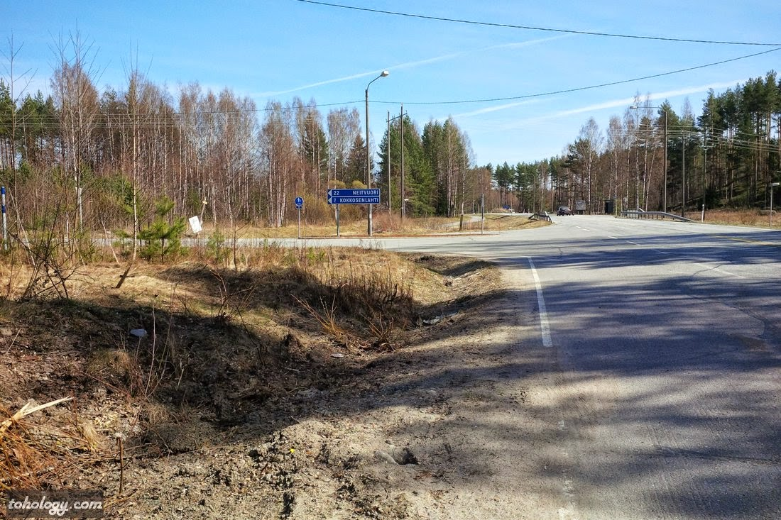 Turn to Neitvuori from the road 62 // Поворот на Нейтвуори с дороги номер 62