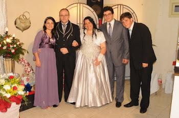 Nossa Família...Fransciele, Ev. Alvaro Braun, Berenice Braun, Daniel e Matheus