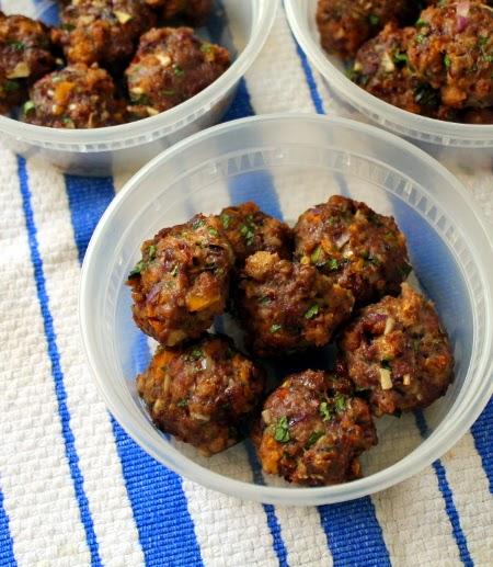 Lamb meatballs with chive tzatziki