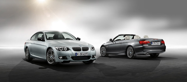Two new editions for BMW 3 Series Coupe and Convertible: M Sport Edition (left) and Edition Exclusive