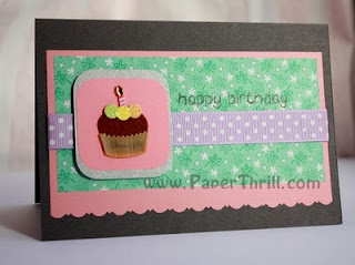 Handmade cupcake birthday card